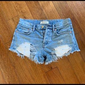 Free People frayed shorts size 24